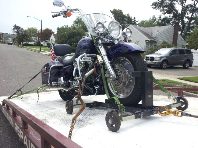 Angel Towing Motorcycle